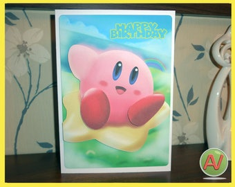 Kirby 3D birthday card.