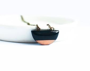 Small geometric necklace contemporary jewelry