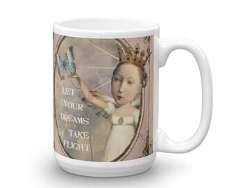 Let Your Dreams Take Flight Inspirational Original Art Coffee Mug