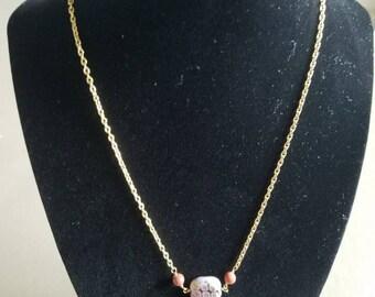 Dainty glass bead necklace