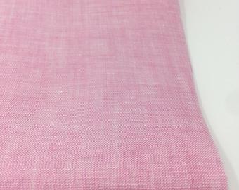 Linen Fabric, 100 % Natural Linen Fabric, Linen by the Yard, Soft Linen, Pure Linen, Linen Bedding fabric, Limerick Linen in Pink