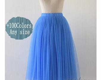 Short tulle skirt,adult women bridesmaid tulle skirt