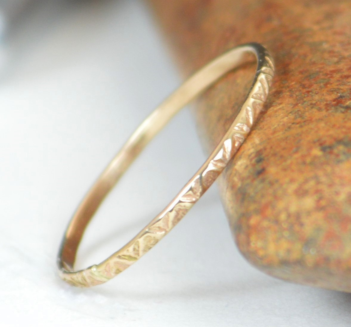 wedding thin band simple ring solid hammered s womans rings woman gold products