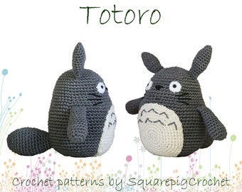 Totoro crochet pattern, 6 inch high amigurumi