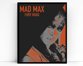 Mad Max Fury Road Movie Poster, Furiosa, Minimalist Print