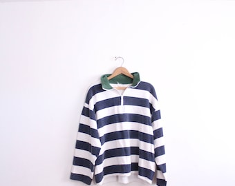 Nautical Striped 90s Sweatshirt