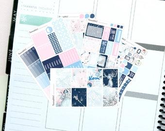 "Winter/Glitter/Christmas/Frozen ""Snow Queen""  Themed Planner Stickers for Erin Condren, Kikki K, Filofax, Happy Planner, Websters Pages"