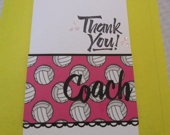 "For a Special Volley Ball Coach, Thank You Card, ""Thanks for everything"""