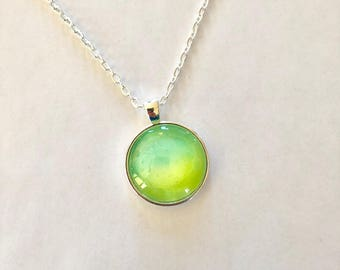 Green and Yellow Orb Necklace
