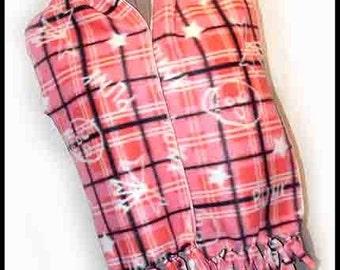 Graffiti Punk Pink Plaid Fleece Scarf, Unisex Muffler, Modern Neck Scarf