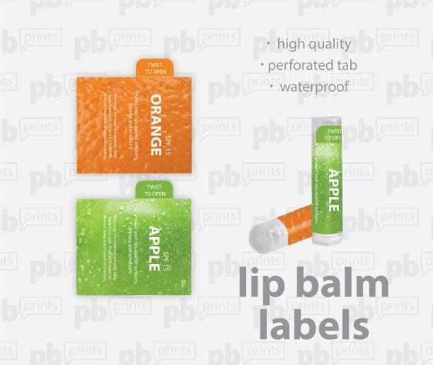 Custom printed lip balm labels zoom maxwellsz