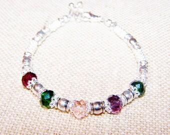 Mothers Bracelet, Mothers Birthstone Bracelet, Birthstone Jewelry, Mothers Jewelry