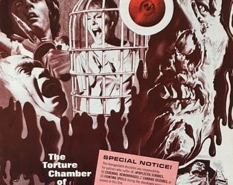 Original US movie theater pressbook Baron Blood Dir. Mario Bava 1972
