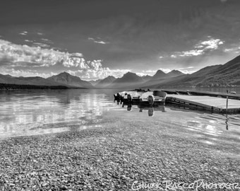 Photo Art - Mountain Photography - Mountain Lake - Black & White