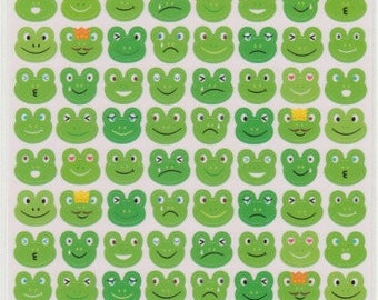 Frog Stickers - Kawaii Japanese Stickers - Reference C3677-78A3789C3905-07