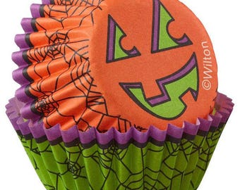Halloween Spider Mini Cupcake Liners Baking Cups Muffin Cups - Wilton Mini Cupcake Liners - Halloween Mini Cupcake Liners