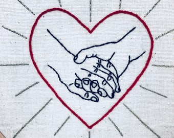 EMBROIDERY KIT Hold  My Hand He & Him