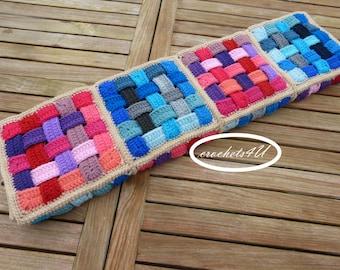 crochet pattern, woven afghan, crochet blanket pattern, baby blanket pattern