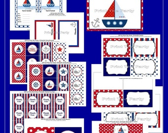 The Nautical Collection- Printable Party Collection by The Birthday House - Everything You Need for a Great Party