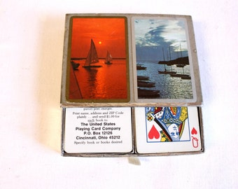 Vintage Nautical Sailboats Congress Playing Cards - Double Deck