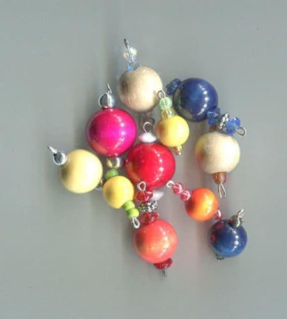 11 wood bead drops pendants mixed charms lot