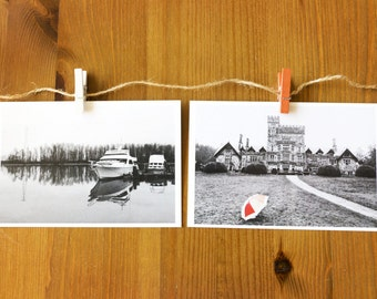 Black and White Postcard Set