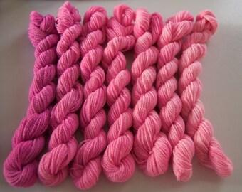 Pink Gradient Yarn Set- Fingering Weight 3.5 oz. 364 yards