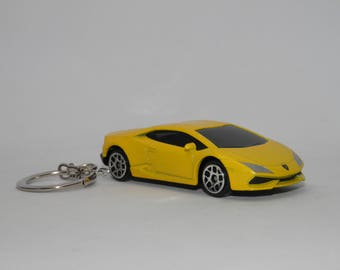 "Lamborghini Huracan LP610-4 Free Shipping Birthday and anniversary gift Keychain 3"" Collectible Metal Diecast Scale Model Super Sport Car"