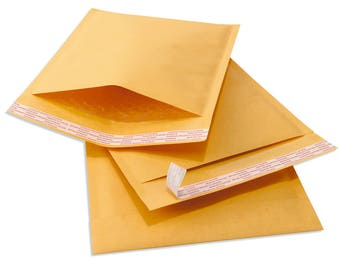 Bubble mailer, self sealing, 4 X 8, Quantity 25 pack, bubble envelope, shipping supplies, self seal mailer, peal and stick, padded envelopes