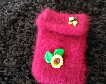 Tissue holder, handmade, felted