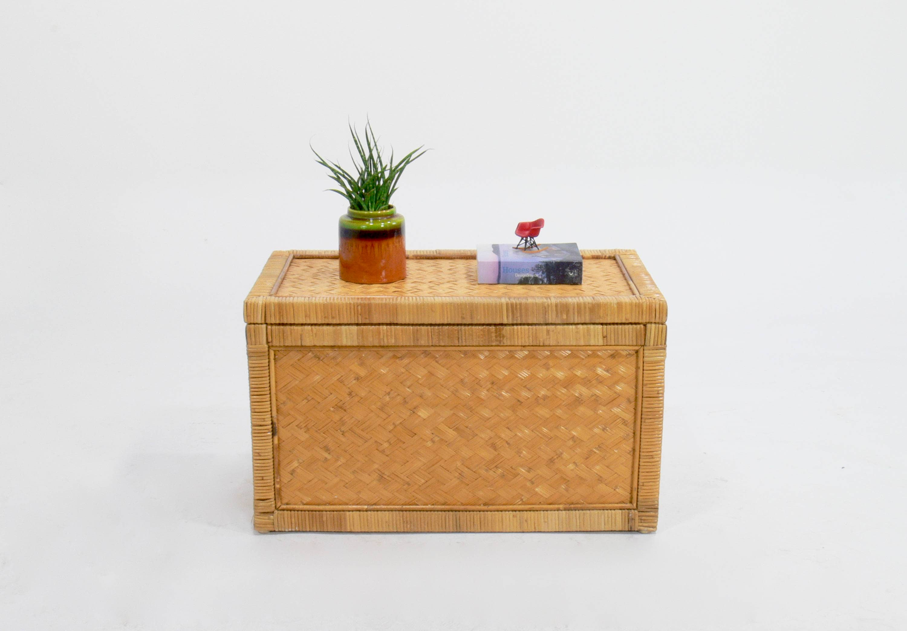 Vintage Rattan Trunk Coffee Table