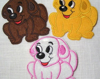 HAPPY dog - Patch embroidered patch Thermo * 8 x 8 cm *.