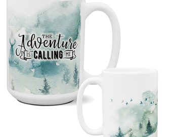 Camping Wilderness Coffee Mug | Coolest Coffee Mugs | Unique Coffee Mugs | Big Coffee Mugs | Large Coffee Mug | Father's Day Coffee Mugs