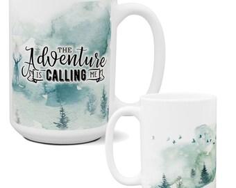 Camping Wilderness Coffee Mug | Coolest Coffee Mugs | Unique Coffee Mugs | Big Coffee Mugs | Large Coffee Mug | Father's Day Coffee Mugs