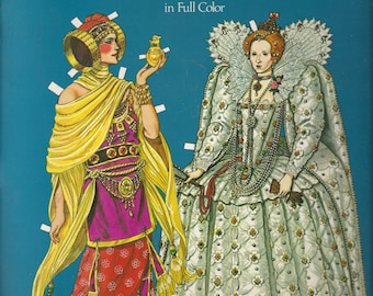 Tom Tierney Great Empresses and Queens Vintage Paper Doll Book, C1982