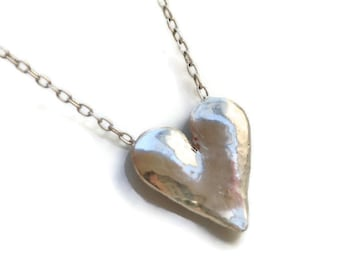 Forged Heart Pendant or Necklace - Beating Strong
