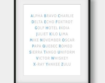 60% OFF NATO Phonetic Alphabet Print, Aviation Art, Aviation Decor, Pilot Gift, Airplane Wall Art, Airplane Decor, Phonetic Alphabet Poster