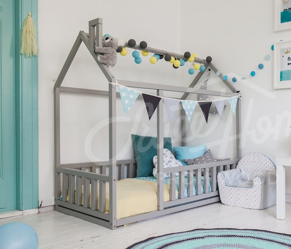 frame bed twin children bed play tent house bed toddler. Black Bedroom Furniture Sets. Home Design Ideas