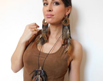 Shaman Necklace - Medicine Bag Necklace - Native American Necklace - Medicine Pouch Necklace - Tribal Necklace - Chakra Healing Necklace