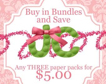 Three Paper Pack Bundle - SALE