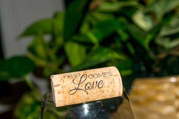 Wine Cork First Comes Love Place Card Holders - Pack of 25