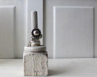 UNE bague architecturale porte - Shabby Chic bague Display - bijoux organisateur - rangement gris / crème - quantité disponible - prêt pour l'expédition