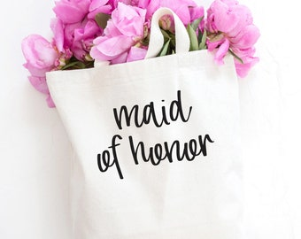 Maid of Honor Tote, Personalized Bridesmaid tote, Maid of Honor bag, Wedding party, wedding party gift, Maid of honor gift, Bridesmaid
