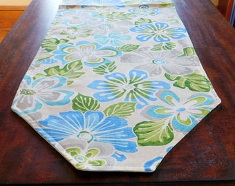 Blue Flowers Table Runner