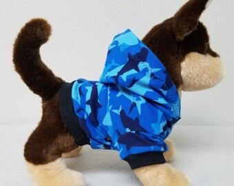 Dog Clothes Shark Hoodie, Chihuahua, Yorkie