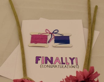 Engagement Card- Tying the knot!