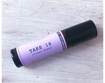 Take 10 roller ball blend for less stress / comfort blend / stress / anxiety / synergy blend for stress / natural essential oil perfume