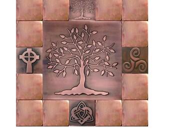 Tree of life, tree of happiness, tree of life wall art. SET OF 17 TILES