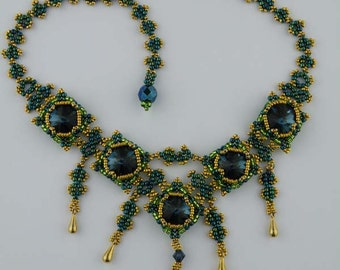 Beading Tutorial - Squared Crystals Necklace