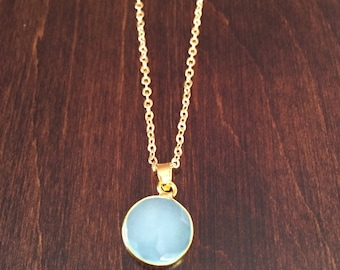 turquoise necklace, light blue necklace, turquoise jewelry, crystal necklace, stone necklace, gem necklace, necklace, gold necklace